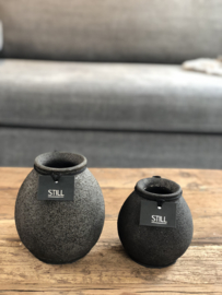 STILL Collection vaasje 'bottle' - maat S - Dark grey