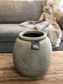 STILL Collection klassieke pot met opstaande rand - maat L - Tin
