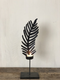 Kandelaar Eleonore - Zwart metaal - Small