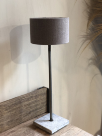 Lampenkap 20 cm grijs-taupe linnen