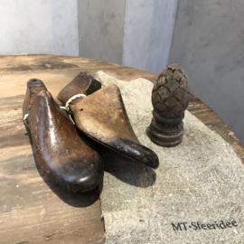 Antieke houten schoenmallen - Set van 2
