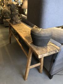 Sidetable oud hout