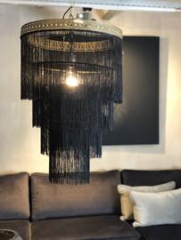 Hanglamp Toos met touw - zwart