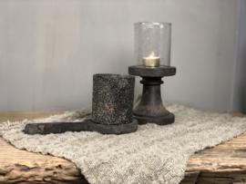 Waxinelicht met glitter steentjes