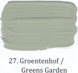 27 Groentehof - voorstrijkmiddel kalkverf op kleur