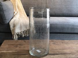Cilinder vaas - Clear Bubbles - H35 x D15 cm - Dutz Collection