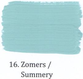 16 Zomers - Voorstrijkmiddel kalkverf op kleur