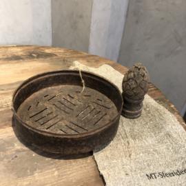 Antieke zeef - Roestkleur #3