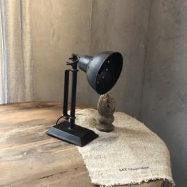 Wandlamp van zwart ijzer - 33x18 cm