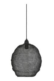 Hanglamp Sjaan van zwart gaas met glanzende finish - 38x42 cm