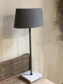 Lampenkap 30 cm ovaal antraciet