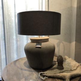 Kruiklamp ronde vaas L - Tin - Still Collection