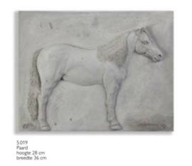 Schilderij beton paard