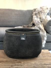STILL Collection ovalen pot met klassieke rand - maat L - Touch of brown