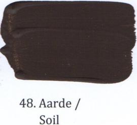 48 Aarde - voorstrijkmiddel kalkverf op kleur