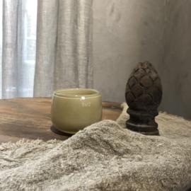 Windlicht Pot - Beige - H7 x D10 cm