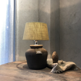 Kruiklamp ronde vaas S - Touch of brown - Still Collection