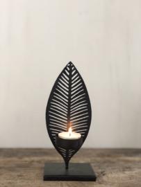 Waxinelichthouder Lies - Zwart metaal - Small
