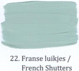22 Franse luikjes - Matte lak OH Terpentinebasis