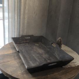 Dienblad met handvatten donkerbruin - 39x57 cm