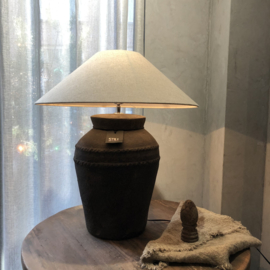 Kruiklamp met ribbels L - Touch of brown - Still Collection