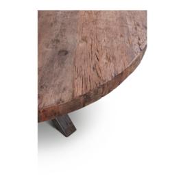 Eettafel Claire met grof, robuust houten blad - 160 cm