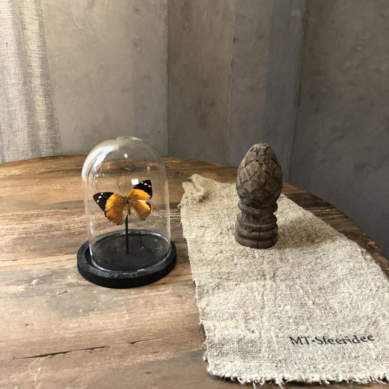 Vlinderstolp met oranje vlinder - 12x15 cm
