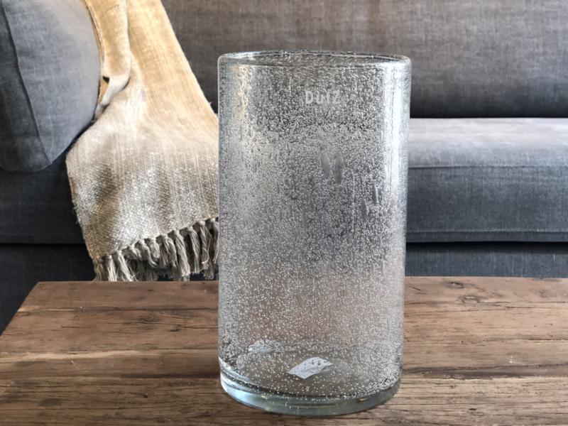 Cilindervaas - Clear bubbles - H27 x D15 cm