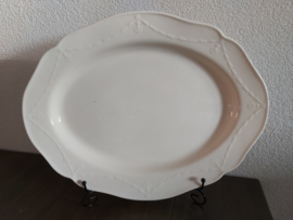 Creamware Guirlande (Garland) - Serveerschaal ovaal ca 44 x 34 cm