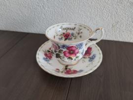 Augustus - Koffiekop met schotel (herenmodel)