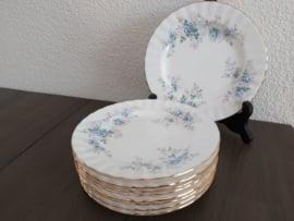 Blue Blossom - Gebaksbordje 16 cm