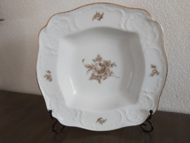 Sanssouci Brown Rose - Vierkante open serveerschaal