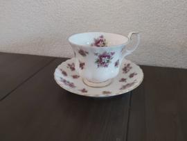 Sweet Violets - Kop en schotel (herenmodel)