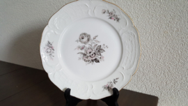 Sanssouci Grey Rose - Ontbijtbord ca 22 cm