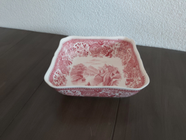 Burgenland - Vierkante schaal  19 x 19 x 6 cm (rood)