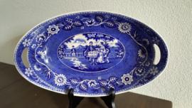Teadrinker Blauw - Broodschaal  35.5 x 22 cm