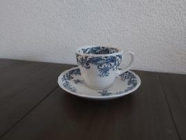 Valeria Blue - Koffiekop en schotel