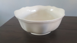 Queen's Plain Creme - Saladeschaal  21 cm doorsnede