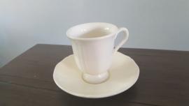 Queen's Plain Creme - Koffiekop en schotel