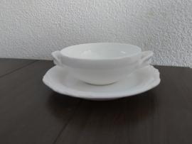 Foglia - Losse schotel voor soepkom van 12 cm.