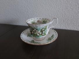 Mei -  Koffiekop met schotel (herenmodel)