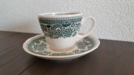 Burgenland - Koffiekop en schotel (groen)