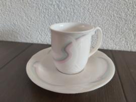 Aurora - Espresso- of mokka kop en schotel