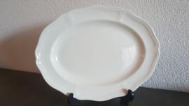 Queen's Plain Creme  - Serveerschaal 28,5 x 22 cm