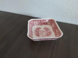 Burgenland - Vierkante schaal  15 x 15 x 4,5 cm (rood)