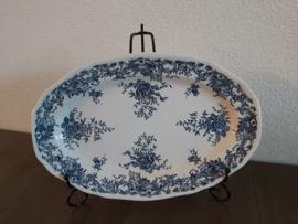 Valeria Blue - Ovale serveerschaal 32 cm lang