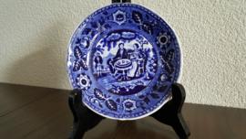 Teadrinker Blauw - Los schoteltje voor kopje - 13.75 cm donker gekleurd