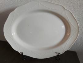 Creamware Guirlande (Garland) - Serveerschaal ovaal ca 44,5x 33,5 cm