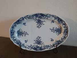 Valeria Blue - Ovale serveerschaal 36,5 cm lang