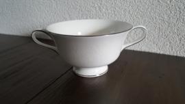 Silver Ermine ( Contour Shape) - Soepkom 11,5 cm doorsnede
